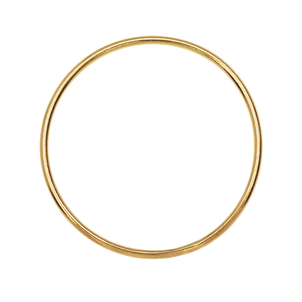 Round Link Component, Closed 18 Gauge Wire 25mm Diameter, 1 Piece, 14K Gold Filled