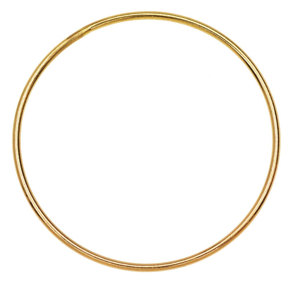 Round Link Component, Closed 18 Gauge Wire 30mm Diameter, 1 Piece, 14K Gold Filled