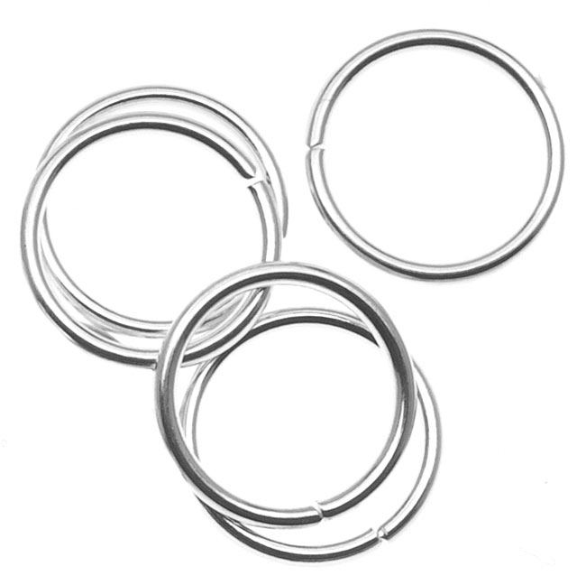 Silver Plated Open Jump Rings 10mm 18 Gauge (50)