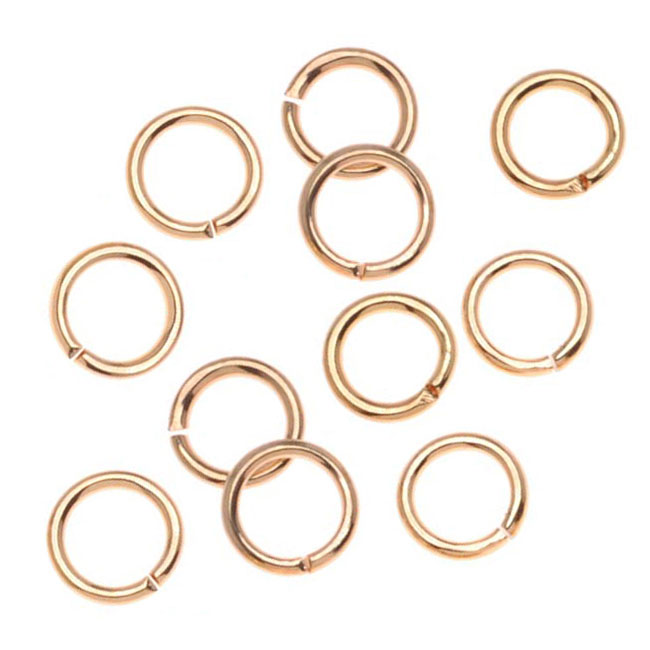 22K Gold Plated Open Jump Rings 5mm 20 Gauge (100)