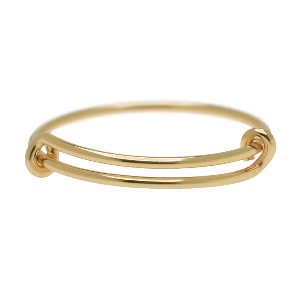 Adjustable Stacking Ring, 1mm Round Wire / US Sizes 8-10, 1 Piece, 14K Gold Filled