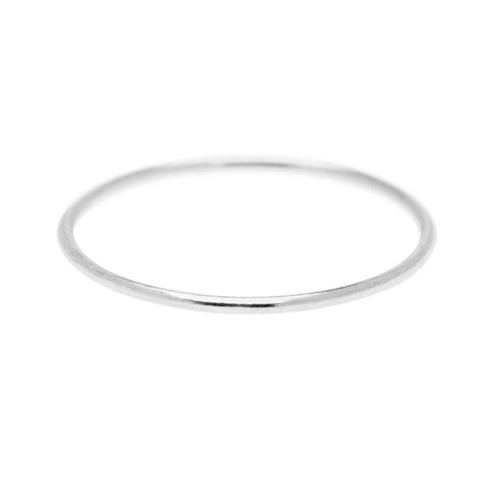 Stacking Ring, 1mm Round Wire / US Size 4, 1 Piece, Sterling Silver