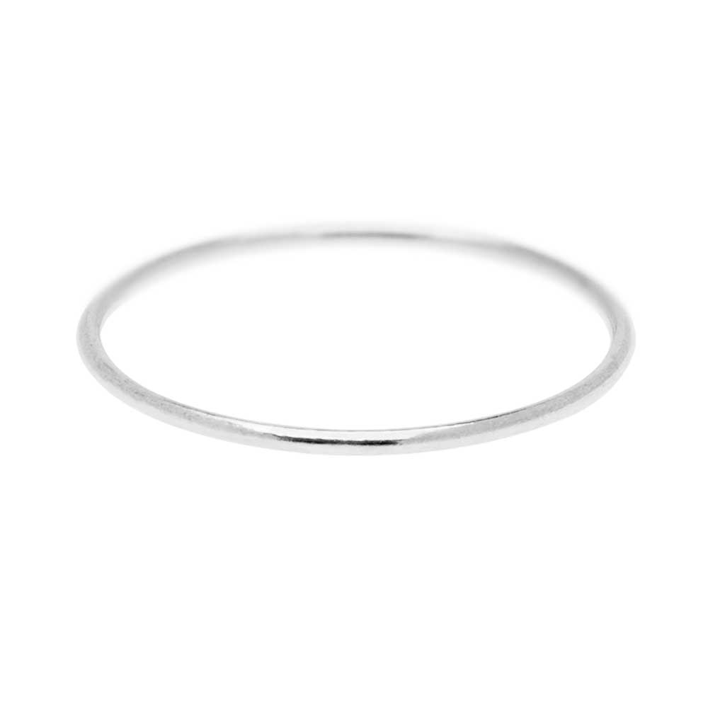 Stacking Ring, 1mm Round Wire / US Size 5, 1 Piece, Sterling Silver