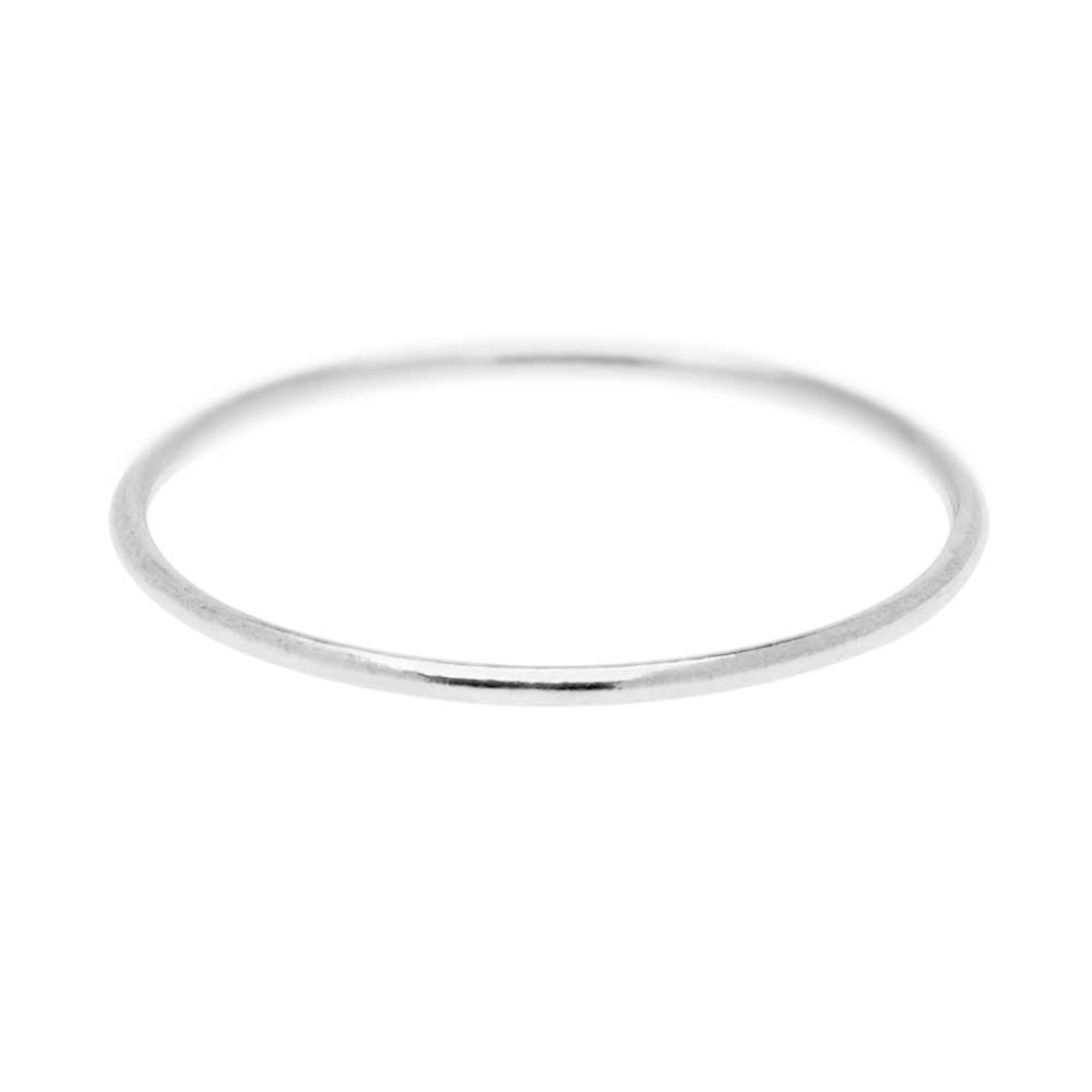 Stacking Ring, 1mm Round Wire / US Size 6, 1 Piece, Sterling Silver