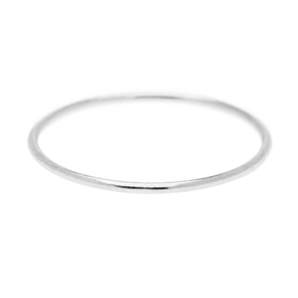 Stacking Ring, 1mm Round Wire / US Size 7, 1 Piece, Sterling Silver