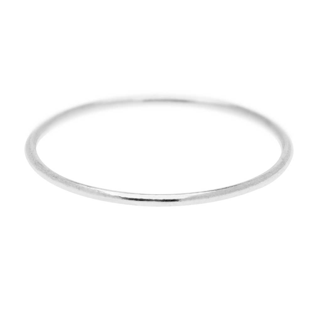 Stacking Ring, 1mm Round Wire / US Size 9, 1 Piece, Sterling Silver