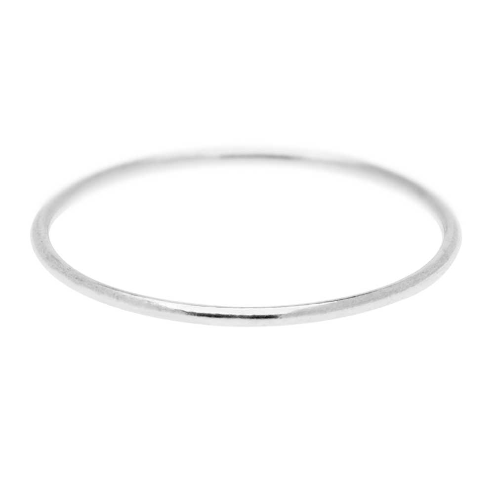 Stacking Ring, 1mm Round Wire / US Size 10, 1 Piece, Sterling Silver