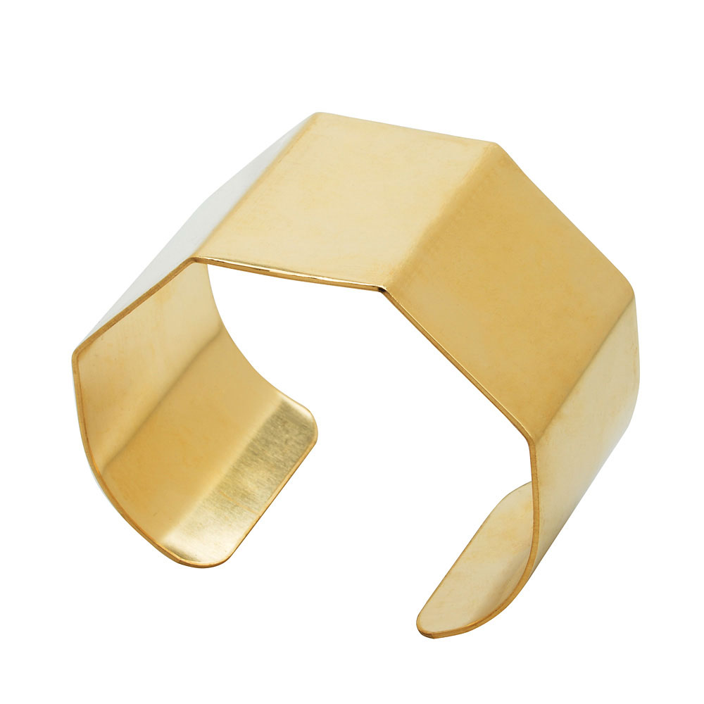 Flat Cuff Bracelet Base, with Four Bends 38mm (1.5
