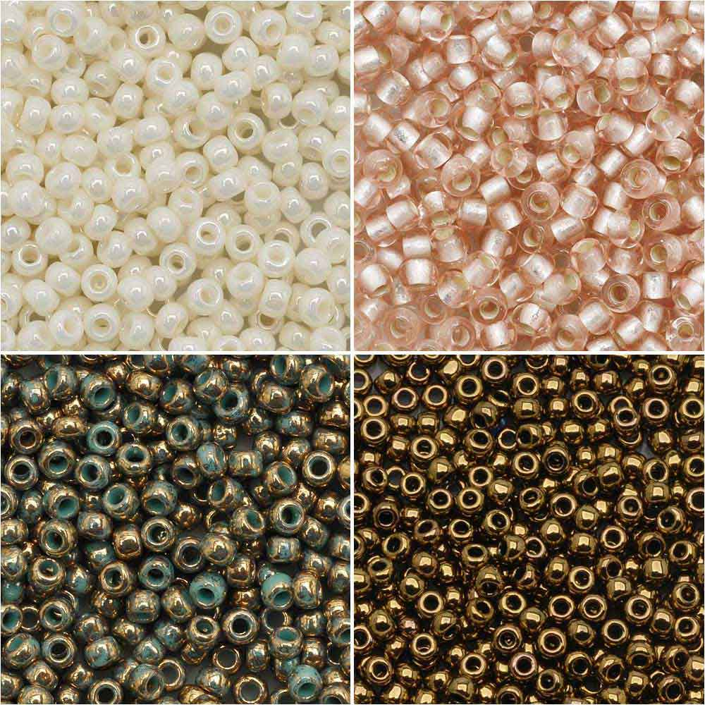 Exclusive Beadaholique Designer Palette, Toho Seed Bead Mix, Round 11/0, 32 Grams, Vintage Lace