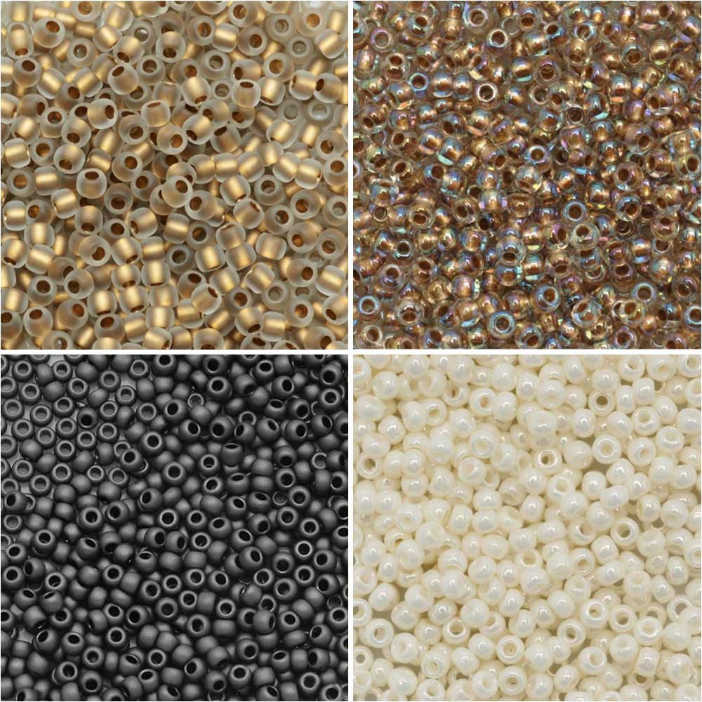 Exclusive Beadaholique Designer Palette, Toho Seed Bead Mix, Round 11/0, 32 Grams, Campfire