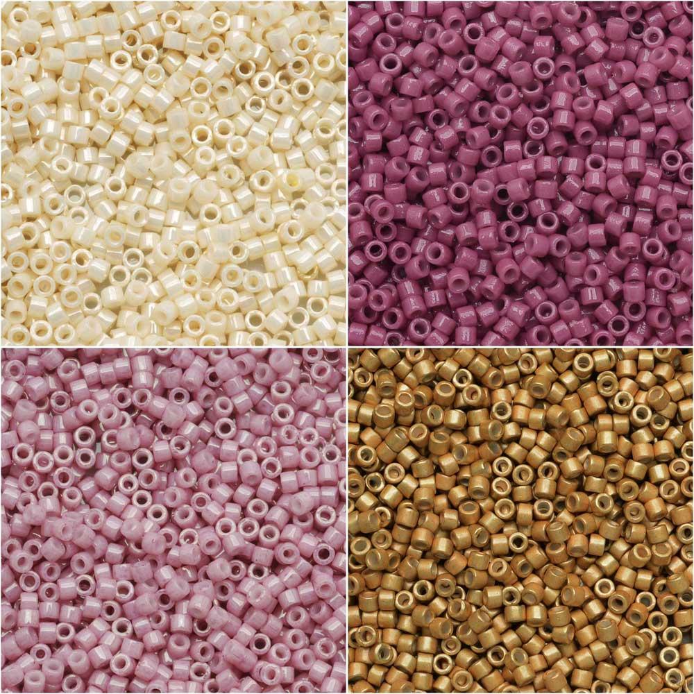 Exclusive Beadaholique Designer Palette, Miyuki Delica Seed Bead Mix, 11/0, 28.8 Grams, Notting Hill