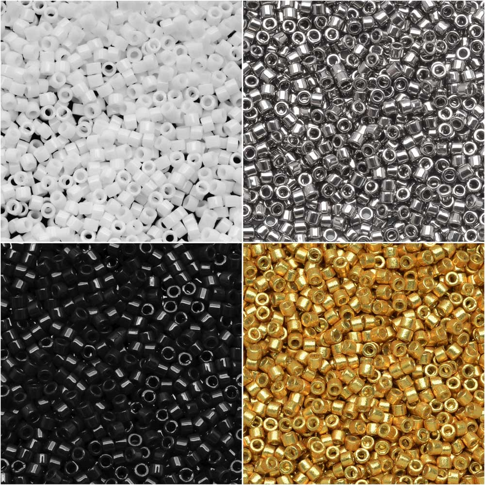 Exclusive Beadaholique Designer Palette, Miyuki Delica Seed Bead Mix, 11/0, 28.8 Grams, Manhattan