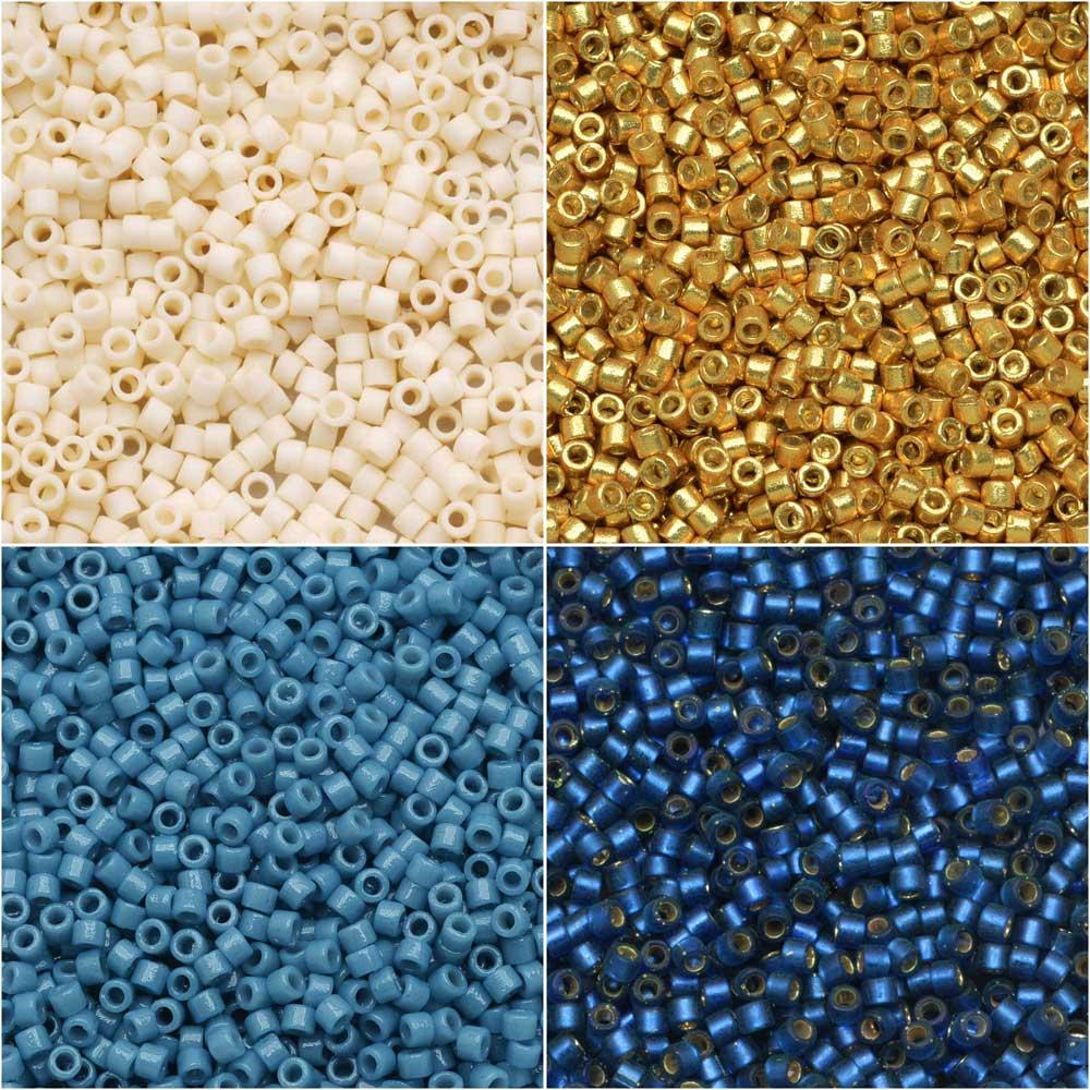 Exclusive Beadaholique Designer Palette, Miyuki Delica Seed Bead Mix, 11/0, 28.8 Grams, Cape Cod