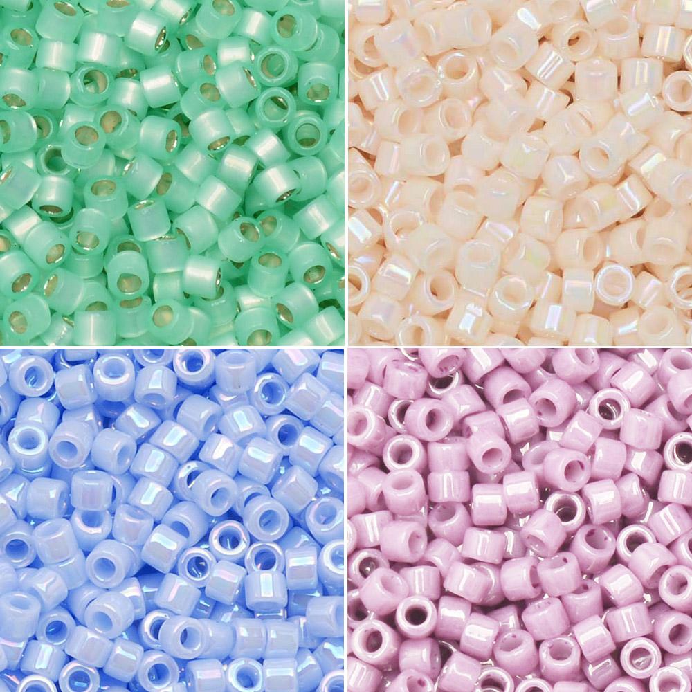 Exclusive Beadaholique Designer Palette, Miyuki Delica Seed Bead Mix, 11/0, 30 Grams, Easter Egg