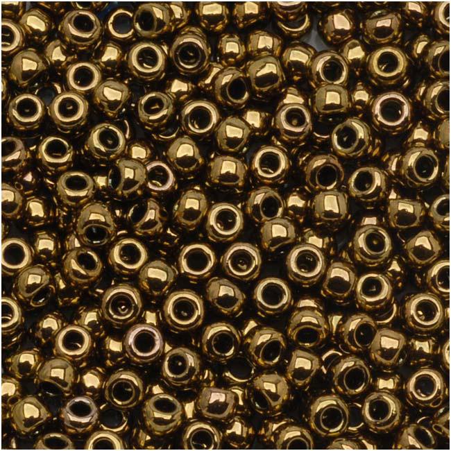 Toho Round Seed Beads 6/0 #223 'Antique Bronze' 8g
