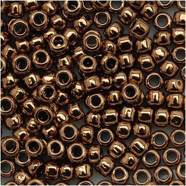 Toho Round Seed Beads 8/0 #221 'Bronze' 8 Gram Tube