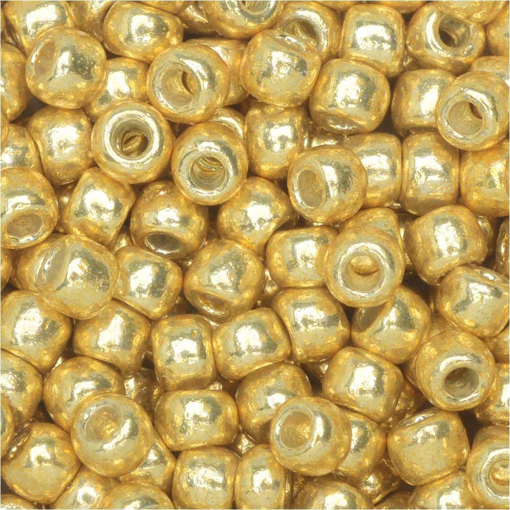 Toho Round Seed Beads 8/0 #PF557 'Galvanized Starlight' 8g