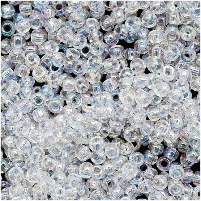 Toho Round Seed Beads 11/0 #161 'Transparent Rainbow Crystal' 8 Gram Tube