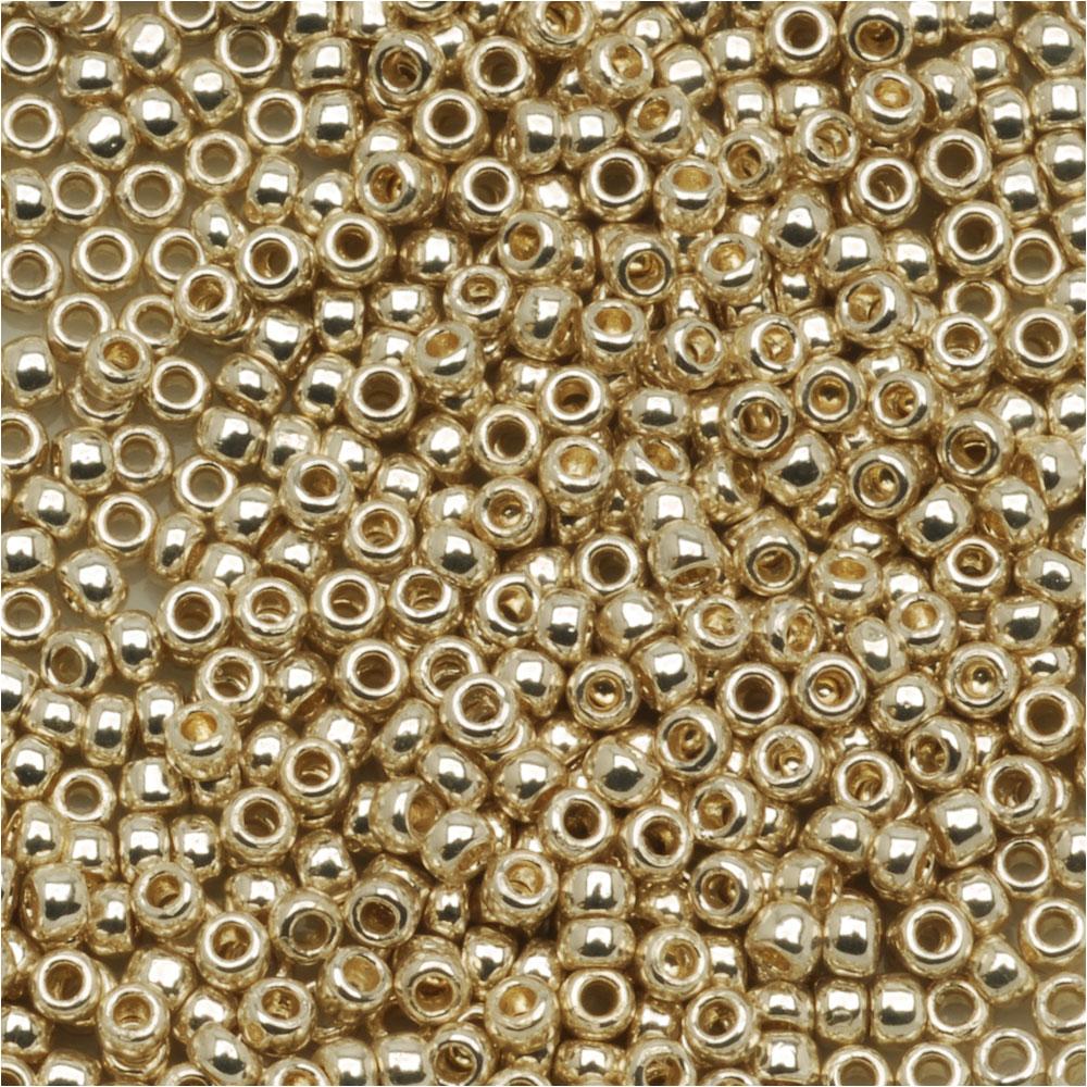 Toho Round Seed Beads 11/0 #PF558 'Galvanized Aluminum' 8g