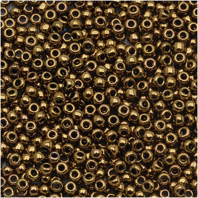 Toho Round Seed Beads 11/0 #223 'Antique Bronze' 8g