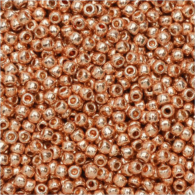 Toho Round Seed Beads 11/0 #PF551 - Permanent Finish Galvanized Rose Gold (8g)