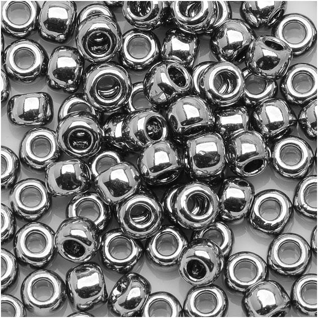 Toho Round Seed Beads 15/0 #711 - Nickel (8 Grams)