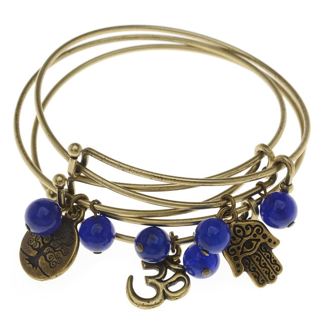 Final Sale - Yoga Bangle Bracelet Set - Exclusive Beadaholique Jewelry Kit