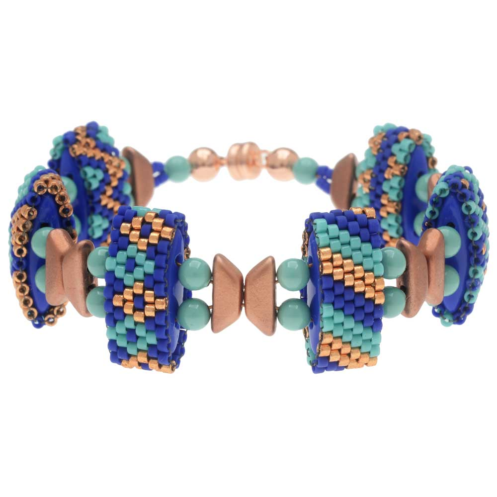 Carrier Bead Peyote Bracelet - Poseidon's Treasure - Exclusive Beadaholique Jewelry Kit