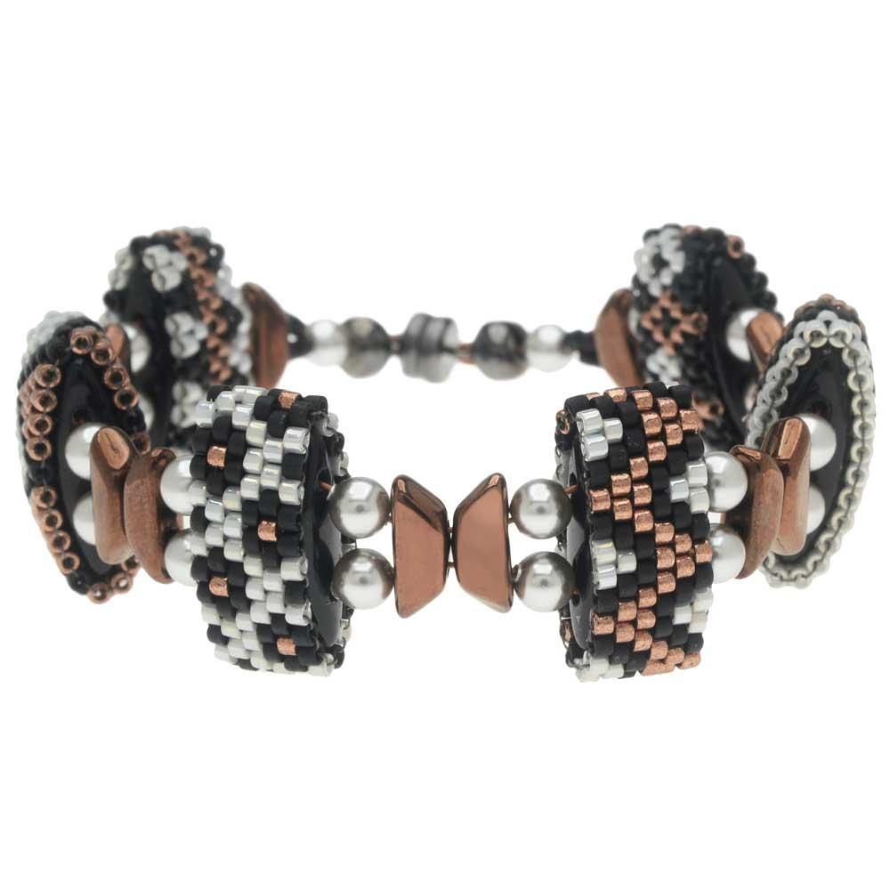 Carrier Bead Peyote Bracelet - Glam Metallics - Exclusive Beadaholique Jewelry Kit