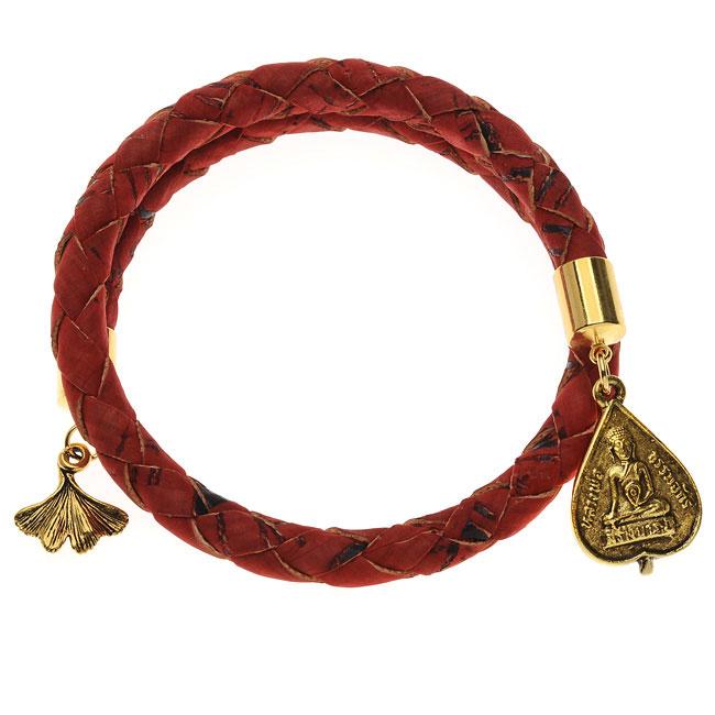 Red Braided Cork Wrap Bracelet - Exclusive Beadaholique Jewelry Kit