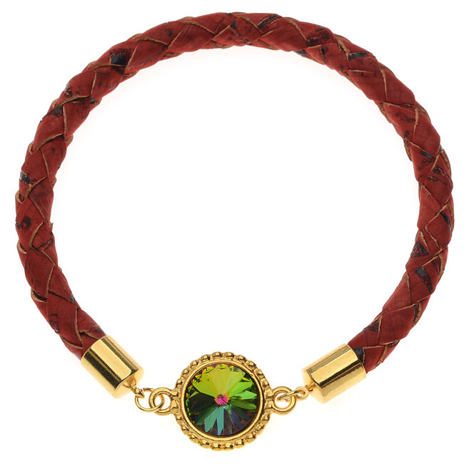 Red Braided Cork Bangle  - Exclusive Beadaholique Jewelry Kit