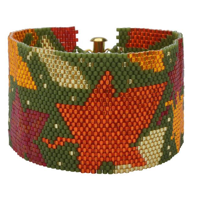 Peyote Bracelet Kit - Autumn Leaves - Exclusive Beadaholique Jewelry Kit