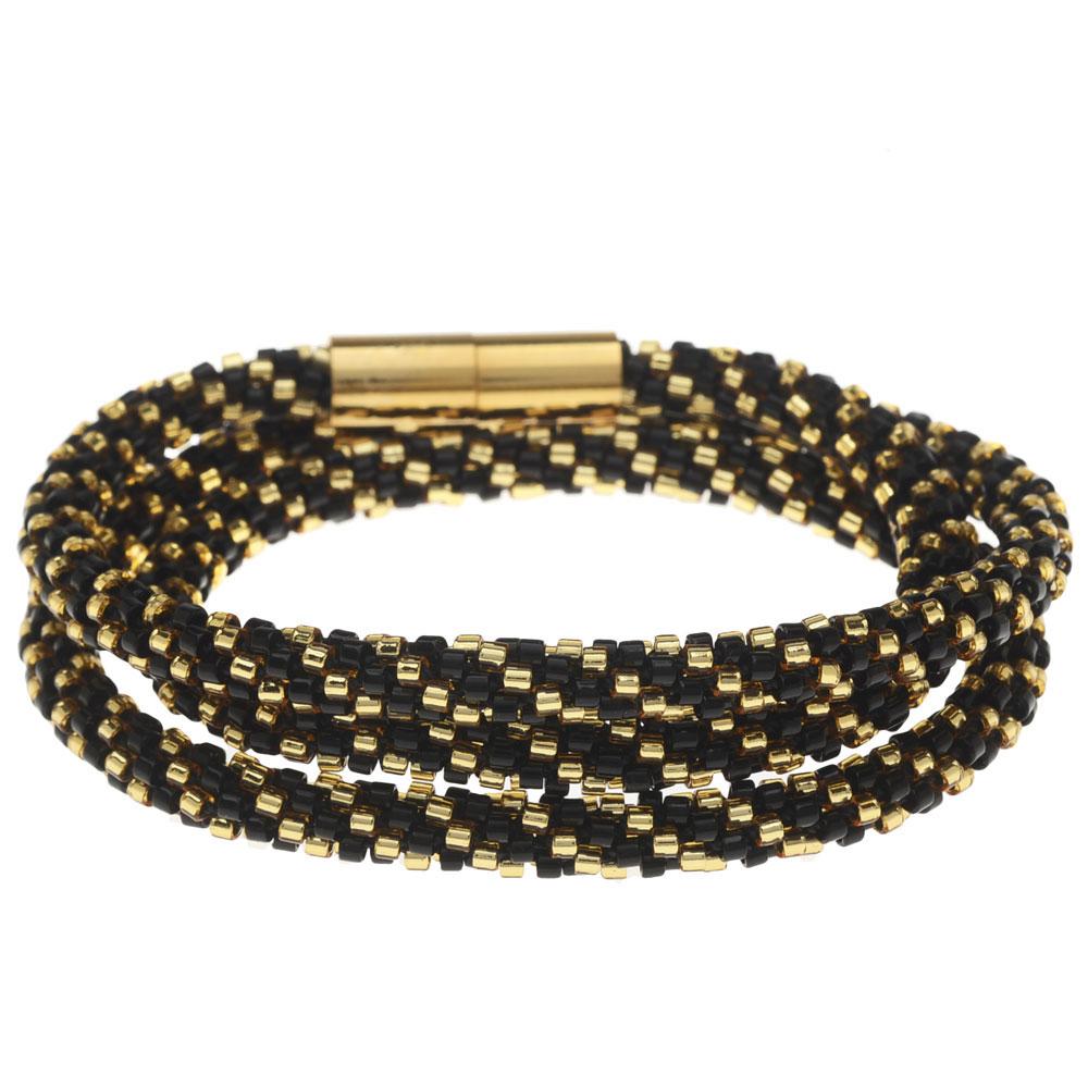 Beaded Kumihimo Wrap Bracelet - New Year's Eve - Exclusive Beadaholique Jewelry Kit