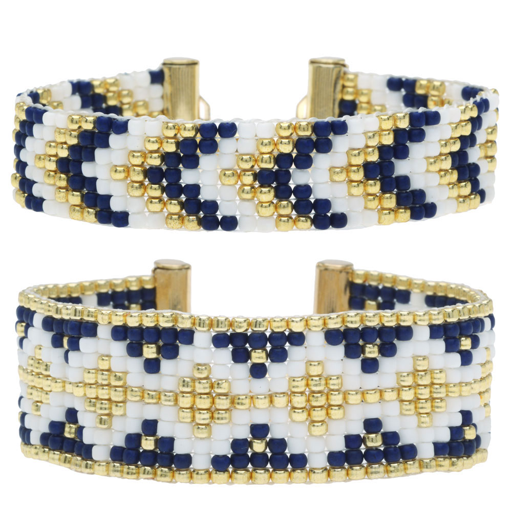 Loom Bracelet Duo - Melville Blue - Exclusive Beadaholique Jewelry Kit