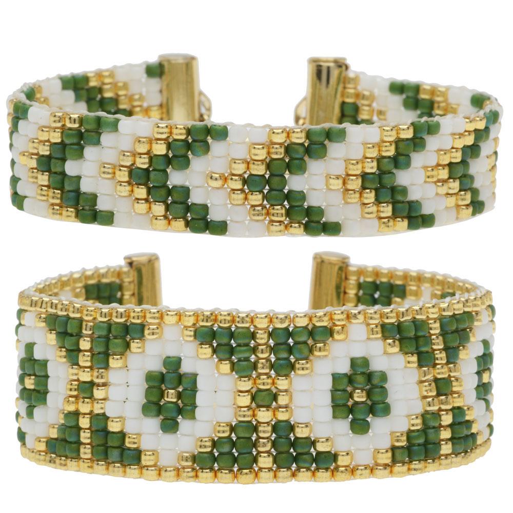 Loom Bracelet Duo - Joyce Green - Exclusive Beadaholique Jewelry Kit