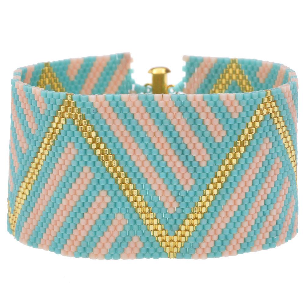 Peyote Bracelet - Miami Beach - Exclusive Beadaholique Jewelry Kit