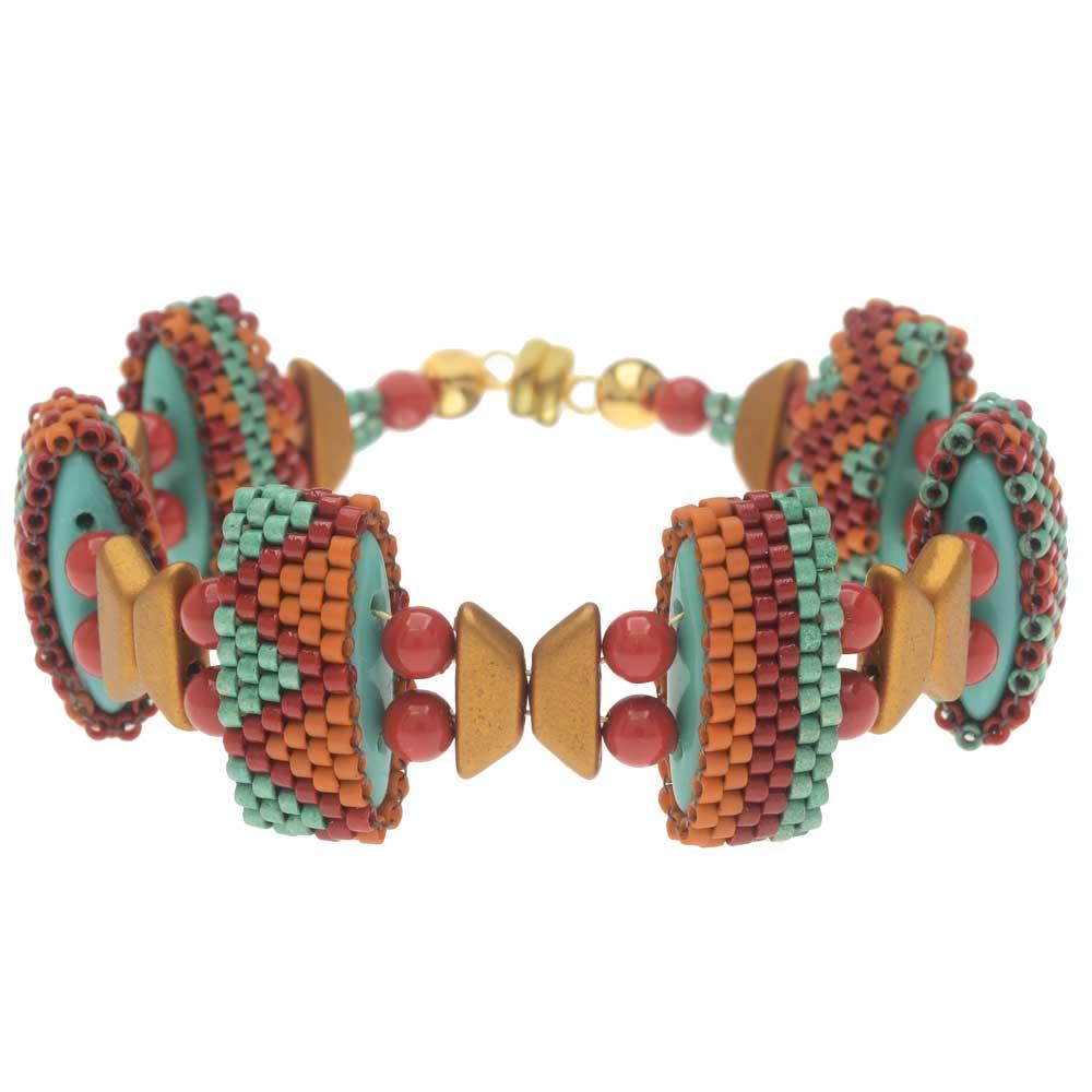 Carrier Bead Peyote Bracelet - Sante Fe Retreat - Exclusive Beadaholique Jewelry Kit