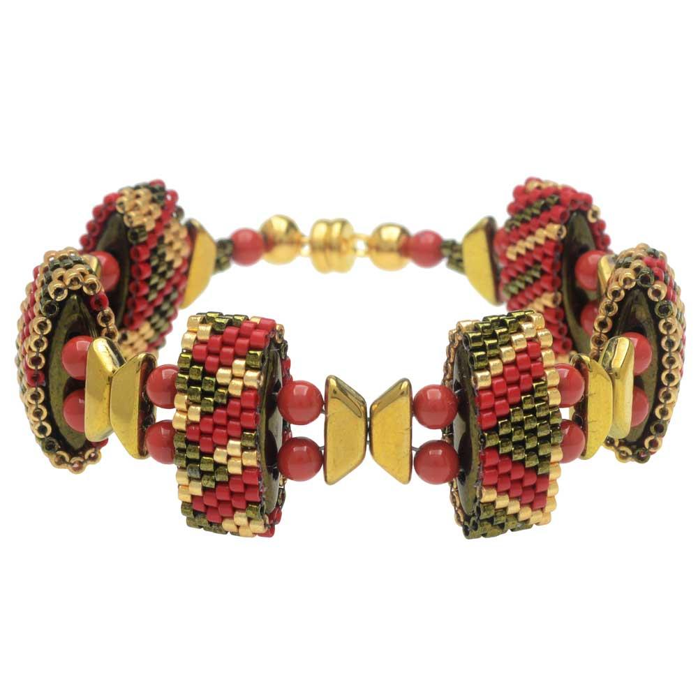 Carrier Bead Peyote Bracelet - Holiday Trimmings  - Exclusive Beadaholique Jewelry Kit
