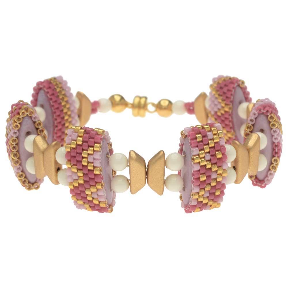 Carrier Bead Peyote Bracelet - Spring Blossom - Exclusive Beadaholique Jewelry Kit
