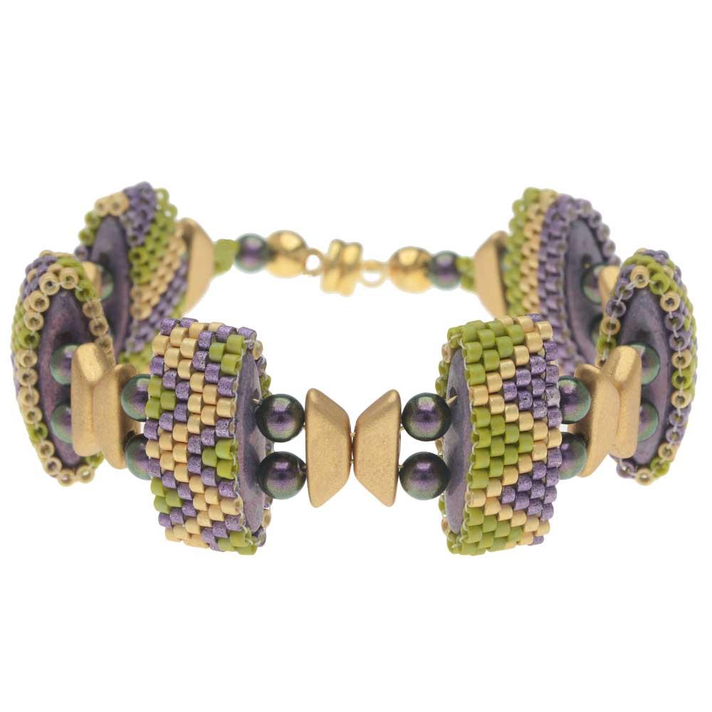Carrier Bead Peyote Bracelet - Lavender Fields - Exclusive Beadaholique Jewelry Kit
