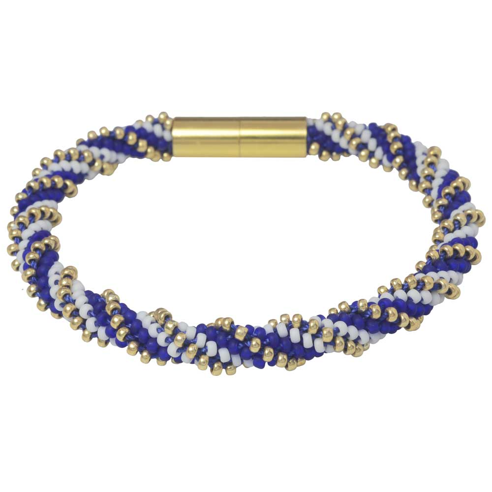 Spiral 12 Warp Beaded Kumihimo Bracelet - Calm Seas - Exclusive Beadaholique Jewelry Kit