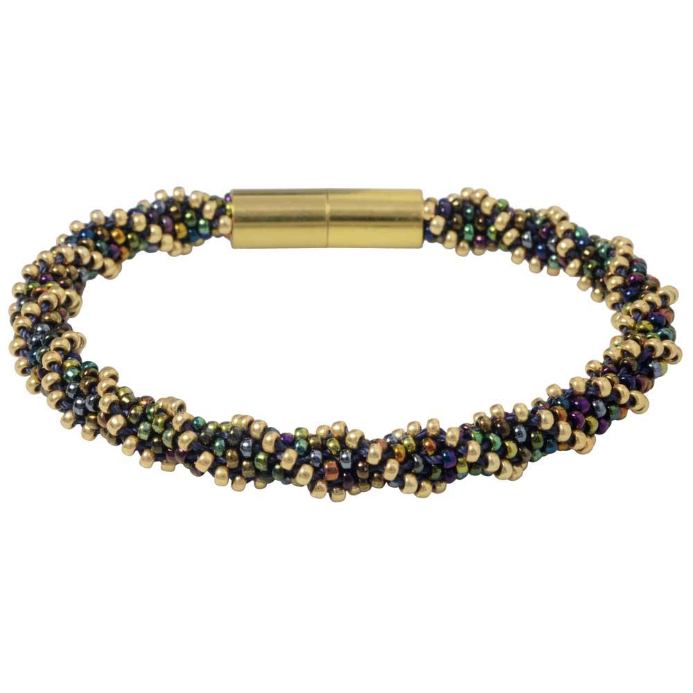 Spiral 12 Warp Kumihimo Bracelet in Night Lights - Exclusive Beadaholique Jewelry Kit