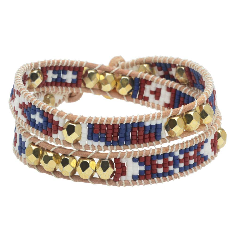 Mosaic Double Wrapped Loom Bracelet - San Antonio - Exclusive Beadaholique Jewelry Kit