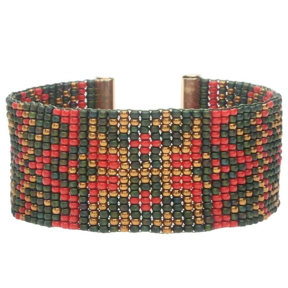 Vintage Christmas Loom Bracelet - Exclusive Beadaholique Jewelry Kit