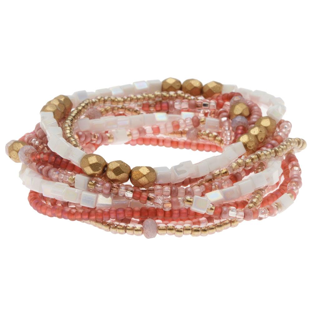Serendipity Stretch Bracelet Kit in Rose, 12 Bracelets - Exclusive Beadaholique Jewelry Kit