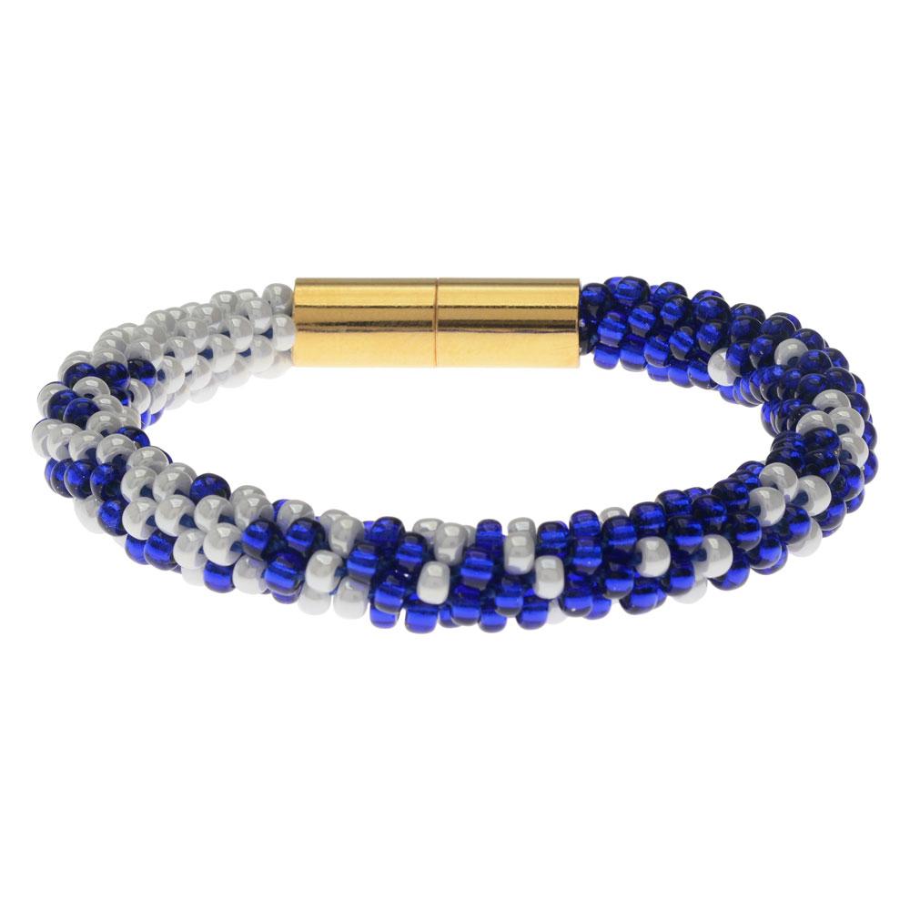 Graduated Kumihimo Bracelet in Nautical - Exclusive Beadaholique Jewelry Kit