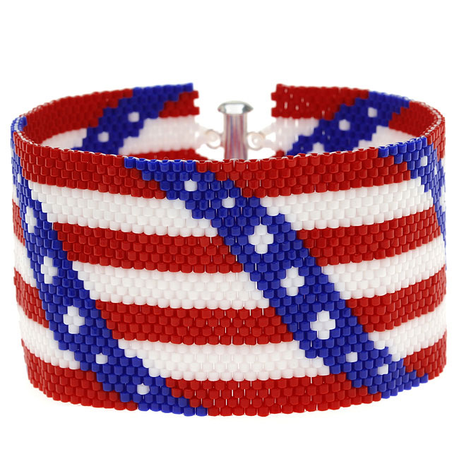 Fourth of July Peyote Bracelet - Exclusive Beadaholique Jewelry Kit