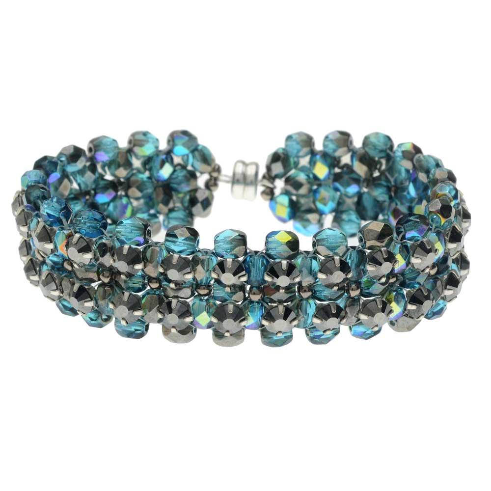 Rose Montee Right Angle Weave Bracelet - Island Cove - Exclusive Beadaholique Jewelry Kit