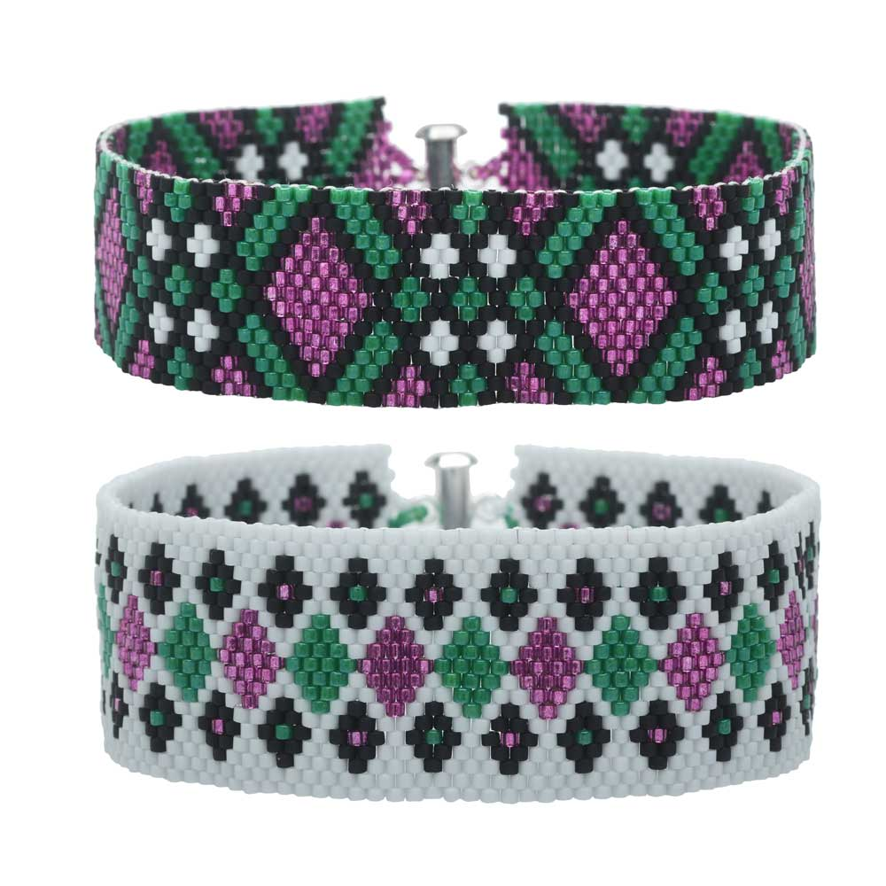 Odd Count Peyote Duo Bracelets - Harley - Exclusive Beadaholique Jewelry Kit