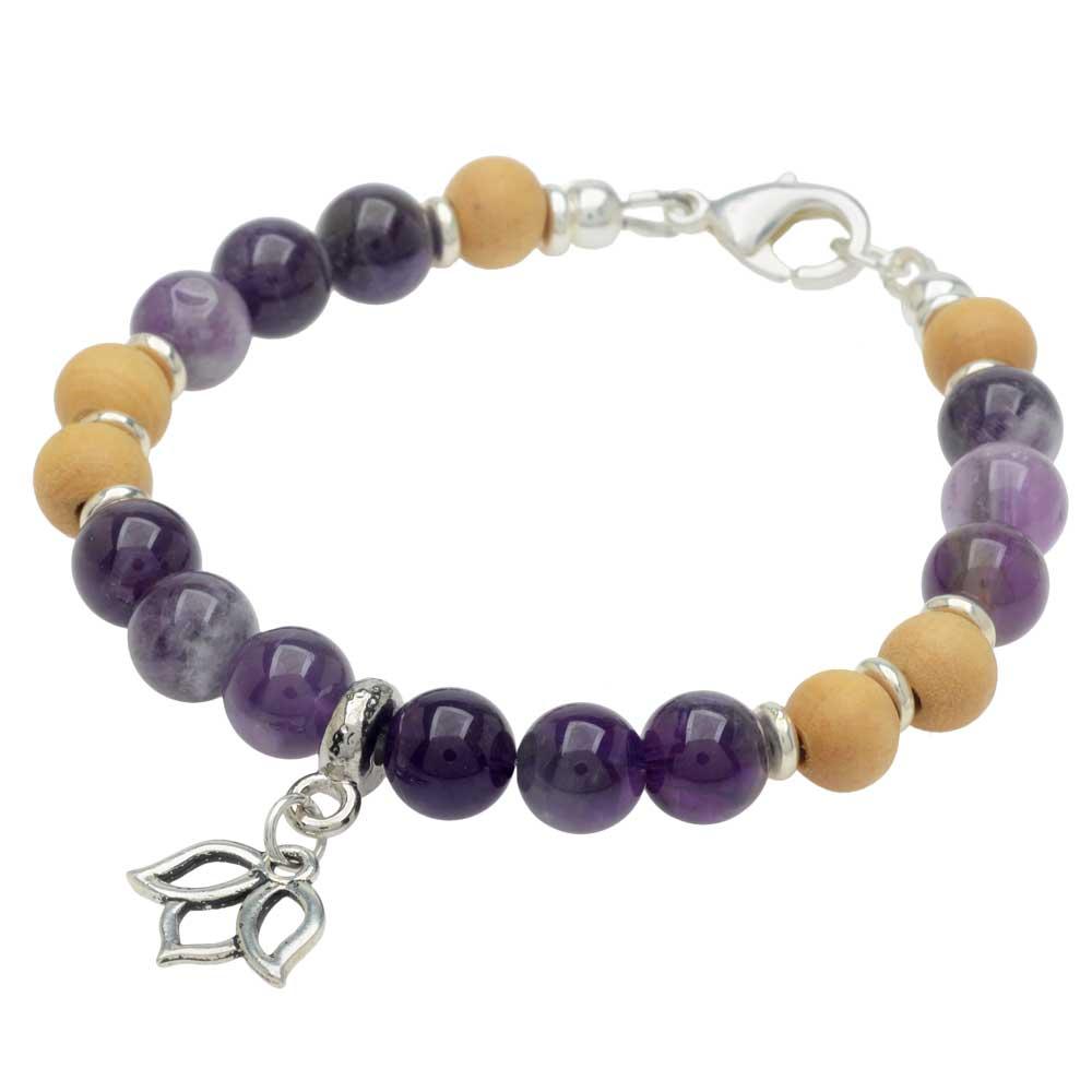 Gemstone Lotus Bracelet in Amethyst - Exclusive Beadaholique Jewelry Kit